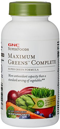 GNC SuperFoods Maximum Green Complete, 90 Tablets