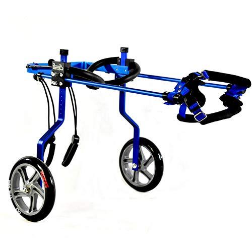 2 Ruedas Silla De Ruedas Ajustable para Perros De Aleación De Aluminio De, Rehabilitación De Patas Traseras, Adecuada para Mascotas Discapacitadas Y Frágiles.
