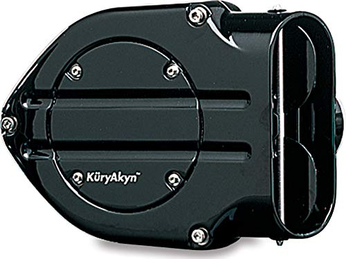 Kuryakyn 9987 Hypercharger Air Cleaner/Filter with Blood Groove Design Trap Door for 1996-2017 Harley-Davidson Motorcycles, Gloss Black