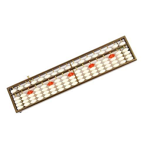 Wanfor Lehrausrüstung, 17-stellige Stäbe, Soroban Standard Abakus Chinesisch Japanischer Taschenrechner Zählwerkzeug Mathematik Lernen Anfänger
