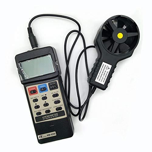 Zcyg Anemometer Wind Speed Meter Luftgeschwindigkeits- / Temperatur- / Luftvolumen-Windmesser, for Elektrizität, Stahl, Petrochemie, Energieeinsparung, Fischerei usw.