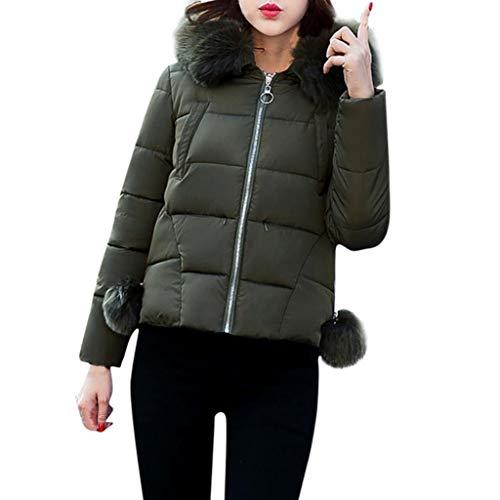 Nvfshreu donsjack dames effen met winterjassen winter bontkraag warme herfst comfortabele maten bekleding gewatteerde mantel casual lange mouwen met capuchon rits mantel