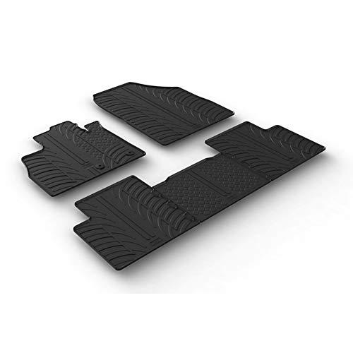 Set tapis de caoutchouc compatible avec Renault Scenic IV 11/2016- (T profil 5-pièces)