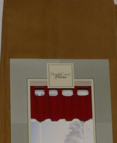 NorthCrest Home Tab Top Gold Window Valance Santa Fe Curtain Topper