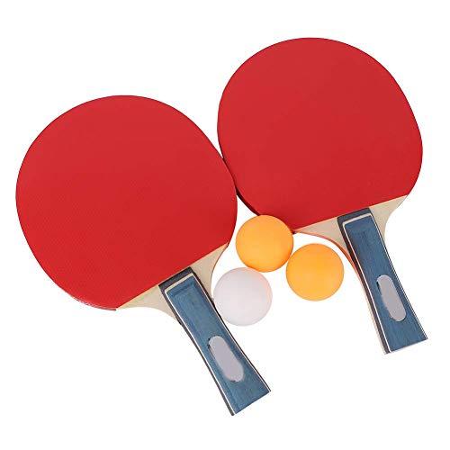 Zestaw rakiet i piłek do tenisa stołowego, zestaw wiosła do ping-ponga z 2 rakietami i 3 piłeczkami dla początkujących studentów dorosłych