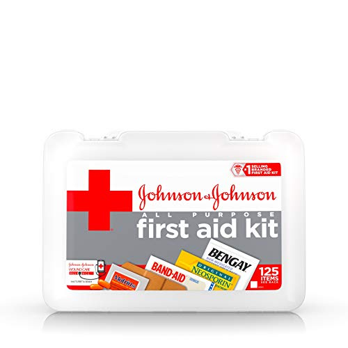 Johnson & Johnson Red Cross All Purpose First Aid Kit, 125 Pieces