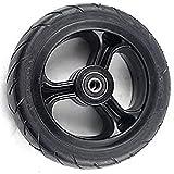 Rueda de 5.5x2 Pulgadas Neumático sólido Fibra de Carbono Scooter Eléctrico Neumáticos Dolly,Seguro y cómodo Ruedas de Repuesto de neumático sólido para Scooter Piezas de Scooter neumático