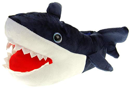 Dunlop Herren Monster Claws Neuheit Hausschuhe,Blauer Hai,44/45 EU (L)