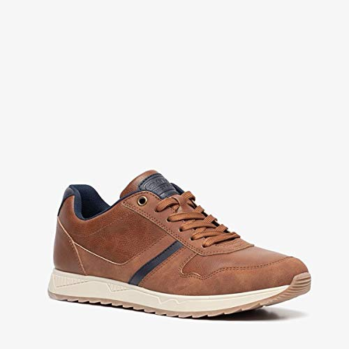 Blue Box heren sneakers - Cognac