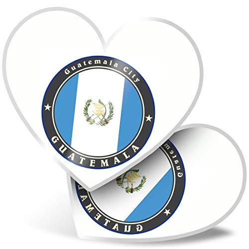 Impresionante pegatinas de corazón de 7,5 cm – Bandera de la ciudad de Guatemala para portátiles, tabletas, equipaje, libros de chatarras, frigorífico, regalo genial #9236