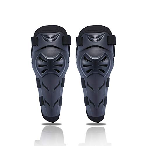 Motorcycle Knee Pads Protector Guard Motocross Protective Knee Shin Brace Support Protection Motorbike Adjustable Crashproof Antislip Protective Shin Pads for ATV Motocross Riding Skate Skateboard