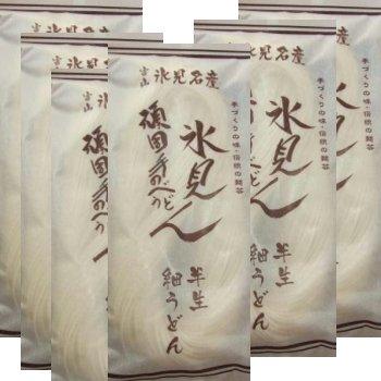 かなや麺業 半生氷見うどん(細麺) 6袋入り 12人前