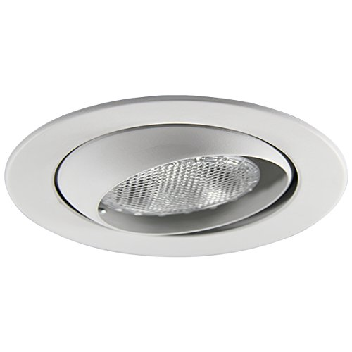 Eco Lighting NY HV6004WH 6-Inch Line Voltage Trim Recessed Light fit Halo/Juno, Adjustable Eyeball Trim, All White