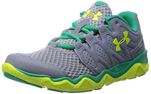 Under Armour UA W MICRO G OPTIMUM - Zapatillas de running de material sintético para mujer, color gris, talla 38