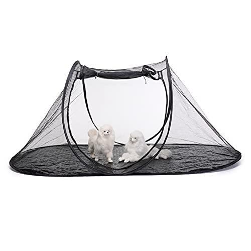 DFFng Recinto Suave para Mascotas al Aire Libre Jaula portátil Red de Juego Tienda Plegable Parque Infantil Perrera para Perros, Gatos y Animales pequeños Refugio Solar