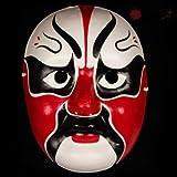 HLJZK La máscara de Pulpa de Yeso Pintada a Mano Puede Usar la quintaesencia de Estilo Chino del Drama de Sichuan Cambiando la Cara Atrezzo de Rendimiento Craft Peking Op