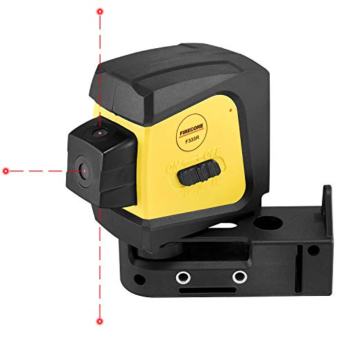 Firecore F333R 3-Point Laser, Red Self-Leveling Spot Laser Level with Magnetic Bracket