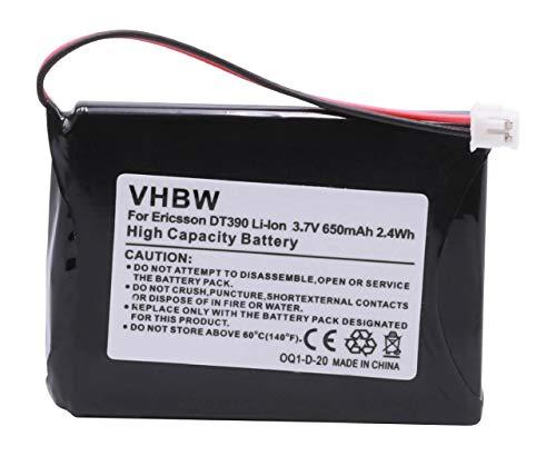 vhbw Batería Recargable Compatible con Mitel 5602, 5603, 5613, 5614 teléfono Fijo o inalámbrico (650 mAh, 3,7 V, Li-Ion)