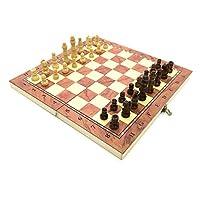 チェスセット、チェスボードセット、インターナショナル木製の折りたたみチェスセット24cmの折りたたみ木製磁気チェスボードゲーム楽しいパズルゲーム
