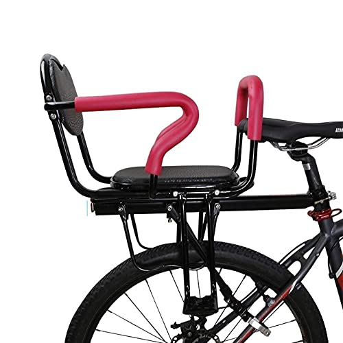 GYYlucky Rear Child Carrier Bicycle Seat, Children'S Bike Seat, With Cushion Backrest Foot Pedals/Armrest And Detachable Fence, For 2-8 Year Old Child Seat
