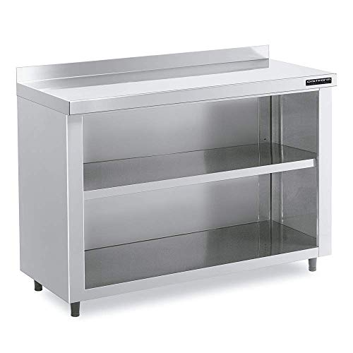 Mueble contra mostrador INOX - 1500 x 350 x 1050 mm - 1 estante - Maquinaria Bar Hostelería