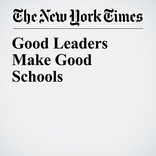 Good Leaders Make Good Schools copertina