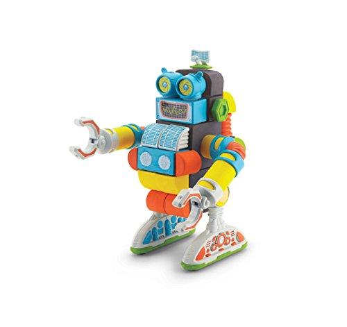 Velcro Kids VELCRO Brand BLOCKS   STEM Toy   Building Blocks, Lightweight Foam   40 Piece, Jumbo Robot, Age 3+ [Packaging May Vary]