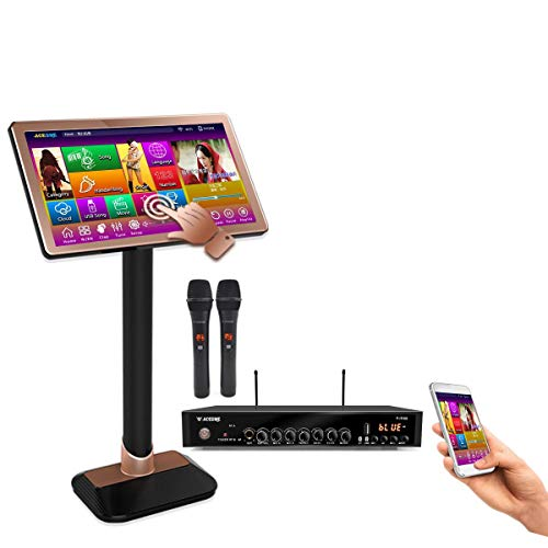 TSRPLUS57M-4TB HDD,90K English +Filipino + Spanish Songs, 22, Touch Screen Karaoke Player,Wireless Microphone Input, ECHO Mixing, Free Microphone and Remote Controller,
