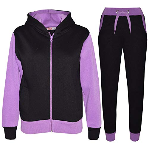 A2Z 4 Kids A2Z 4 Kids® Kinder Trainingsanzug Mädchen Jungen Designer Plain Kontrast - T.S Plain 101 Lilac 7-8