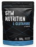 GYM-NUTRITION® — L-GLUTAMIN Ultrapure Pulver – extra hochdosiert & 99,5 % rein – proteinogene Alpha-Aminosäure, vegan – ideal für Body-Builder — Made in Germany — 500-g, Geschmack: NEUTRAL