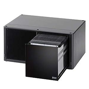 サンワダイレクト Blu-ray/DVD/CD 収納ケース 大容量 160枚収納 ワンプッシュで自動オープン! ブラック 200-FCD059