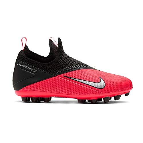 Nike Phantom Vsn 2 Academy DF AG, Zapatillas de fútbol para Hombre, Laser Crimson-Láser de Color Plateado, 40.5 EU