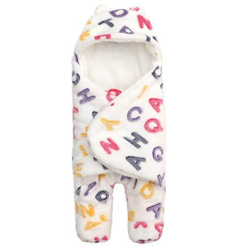 Athyior Babyslaapzak 2,5 tog voor 0-6 maanden Pasgeboren - Zuigelingen Fleece Leuke Wikkeldeken Inbakeren Trappelzak voor Universele Kinderwagen Bed