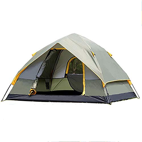 LWLPAI Small Dome Tent With Full Standing Head Height, 100% Waterproof Family Camping Tent With Sewn In Groundsheet,3 To 4 Persons Mantent