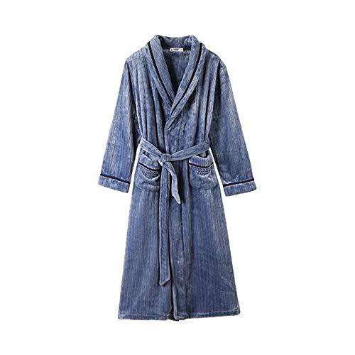 Unbekannt NAN Liang Baumwolle verdicken Männer-Pyjamas, weiches Material Winter-Bademantel Gemütlich warm halten Tasche EIN Gürtel M/L/XL/XXL/XXXL (Size : XL)