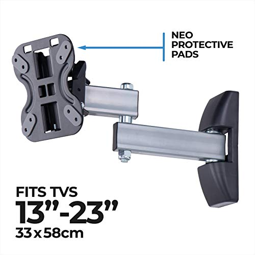 AmazonBasics Performance vollbewegliche TV-Doppelarm-Wandhalterung für 33-58,4 cm (13-23 Zoll) TV-Geräte