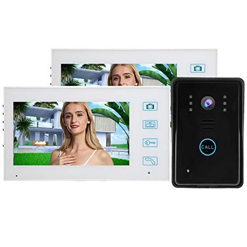 Timbre con Control Remoto Cámara Video Timbre Teléfono inalámbrico con Puerta para Toma automática de Fotos para(European regulations)