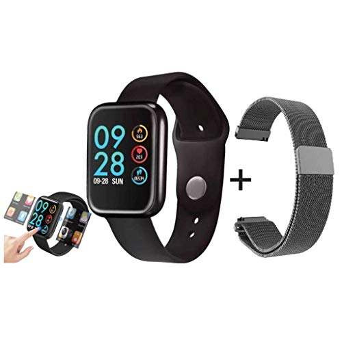 Smartwatch P80 40MM Original Touch Screen 2 Pulseiras App Da Fit - Preto - Para Iphone Android
