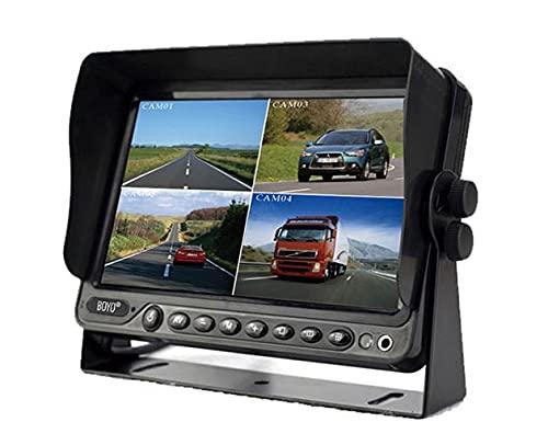 "BOYO VISION VTM9003QFHD - 9"" AHD CVBS Quad Full HD Monitor with Built-in DVR (4 Channel), Black"