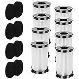 UOUOLONUN 8 juegos de filtros HEPA de repuesto y filtro de filtro compatible con aspiradora inalámbrica MOOSOO D601