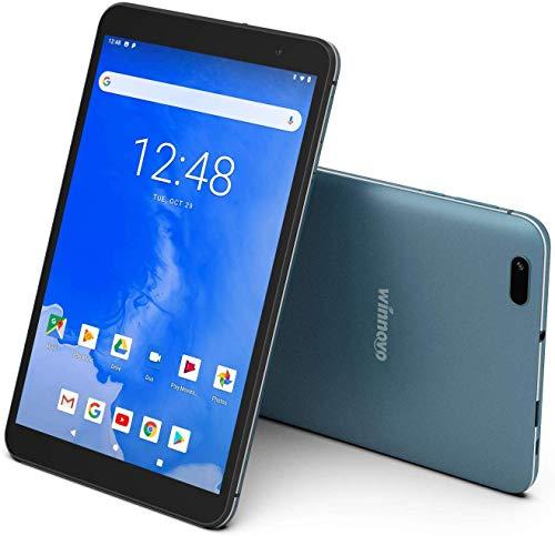 8-Inch Tablet Android 9.0 - Winnovo T8 Quad Core Processor2GB RAM 32GB ROM HD IPS Display Dual Band WiFi BT4.0 GPS FM Netfix YouTube (Blue)