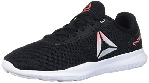 Reebok Women's Dart TR Running Shoe, Black/White/Rose, 8 M US