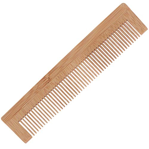 CZXKJ Entwirrungskamm Massieren hölzernen Kamm Bambus Haar Vent-Bürsten-Bürsten Haarpflege Haarpflege Kamm 2 PCS Ideal für alle Haartypen