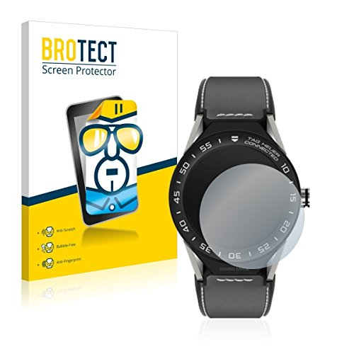 2X BROTECT HD Clear Bildschirmschutz Schutzfolie für Tag Heuer Connected Modular 45 (kristallklar, extrem Kratzfest, schmutzabweisend)