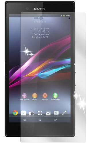 Ecultor I 6X Schutzfolie klar kompatibel mit Sony Xperia Z Ultra Folie Bildschirmschutzfolie