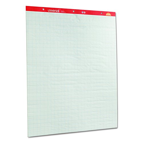 Universal 35602 Recycled Easel Pads, Quadrille Rule, 27 x 34, White, 50 Sheet (Case of 2 Pads)