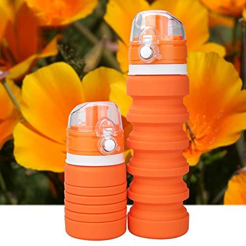 Song6 Strandzelt Reise tragbare Faltbare multifunktions außerhalb Sport Flasche silikon Falten wasserflasche teleskop Tasse umweltfreundliche Wasser Tasse Camping Zelt (Color : Orange)