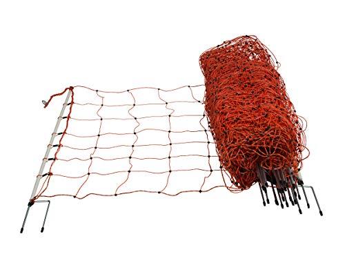 horizont Schafnetz │ Höhe 90cm - Länge 50m │ Doppelspitze │ Schafzaun, Weidezaun, Elektrozaun │ perfekt für den Schutz Ihrer Schafe
