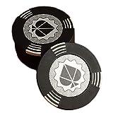 TX GIRL 25 Piezas/Set Chips De Póquer Texas Hold'em Tarjetas De Juego Chips Baccarat Casino No Valor En Efectivo Monedas Chips Clay Embedded Metal (Color : Black 43mm)