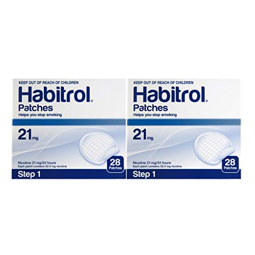 Novartis Habitrol 21mg Nicotine Patches Step 1. Stop Smoking. 2 Boxes of 28 Each (56 Patches). 21 MG